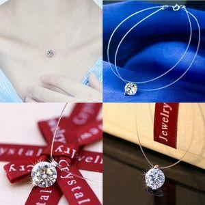 Jewelry - Floating Amethyst CZ Transparent Line Choker